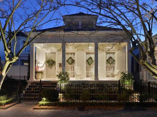 American Colonial Exterior-Stock Image