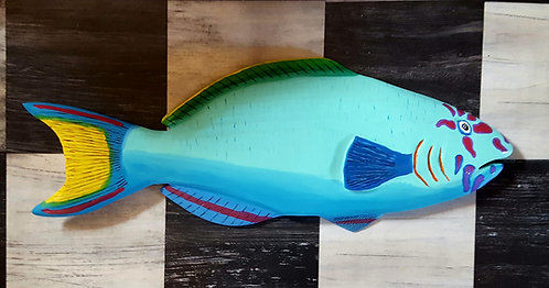Hand Carved Tropical Fish 24 inches