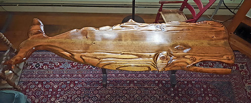 Hand carved sperm whale coffee table