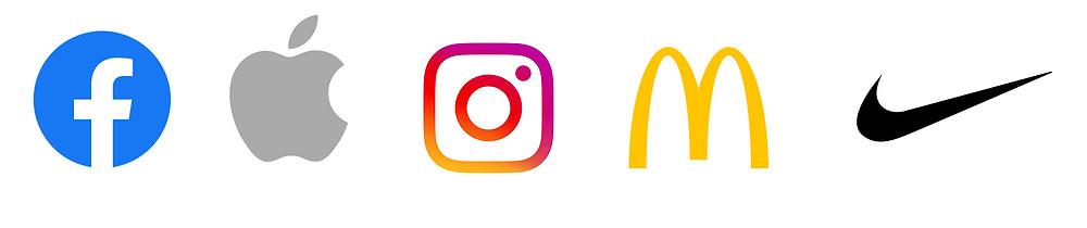 לוגו נייק, לוגו מקדונלד'ס, לוגו אינסטגרם, לוגו פייסבוק, לוגו אפל, FACEBOOK LOGO, APPLE LOGO, INSTAGRAM LOGO, MCDONALD'S LOGO, NIKE LOGO