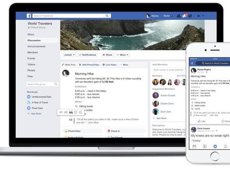 חדשות חמות ופיצ'רים חדשים למנהלי קהילות פייסבוק