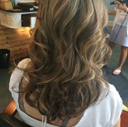 Carmel blonde with lots of layers for movement.