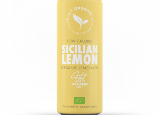 Level Organic Sicilian Lemonade 250ml Can