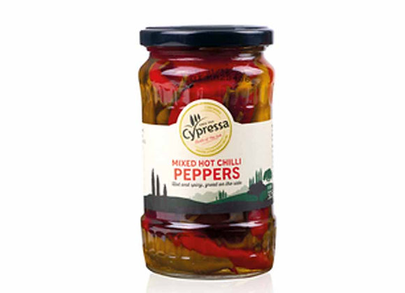 Cypressa Mixed Hot Chilli Peppers 325g