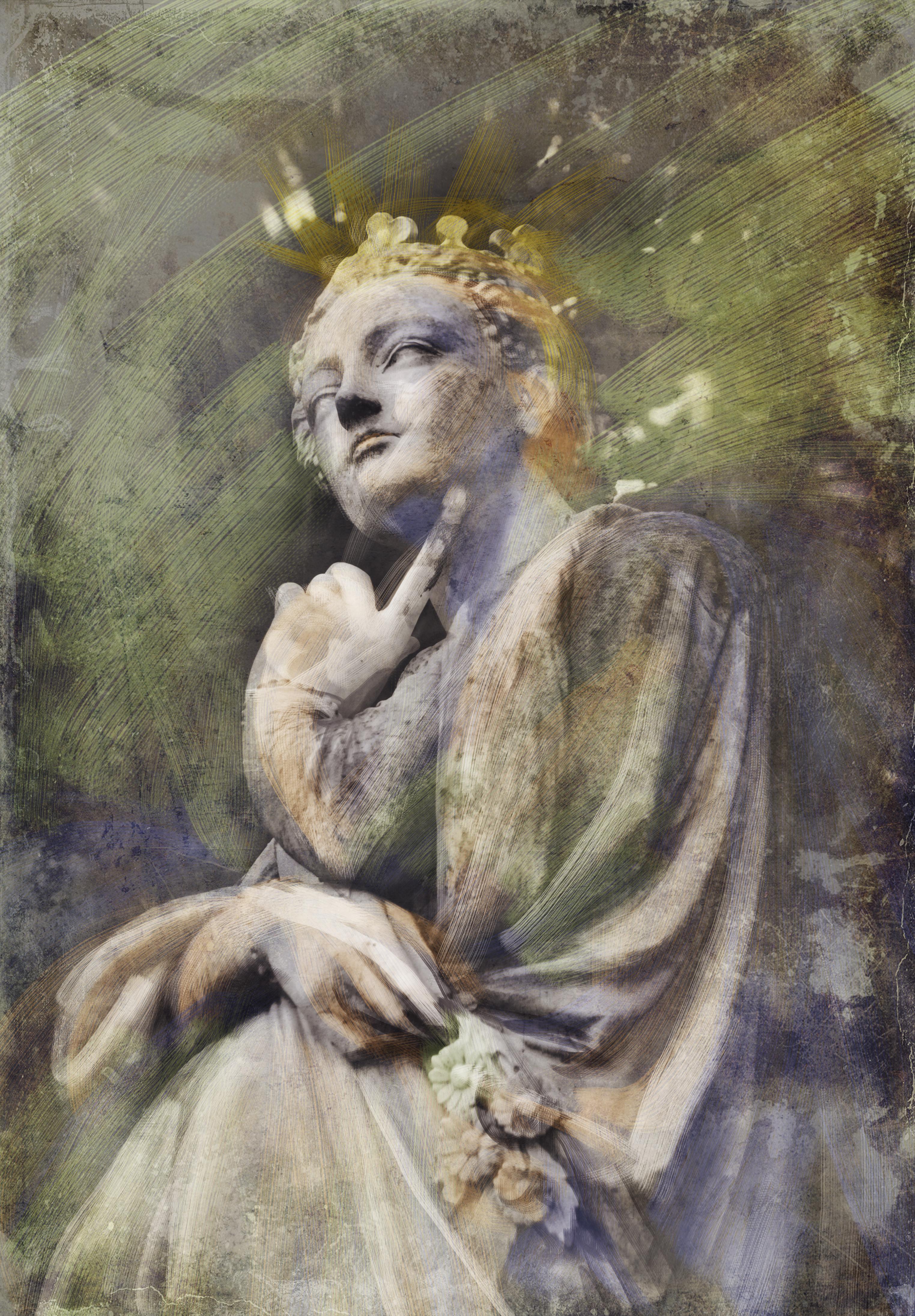 Jardin du Luxembourg stature - digital drawing