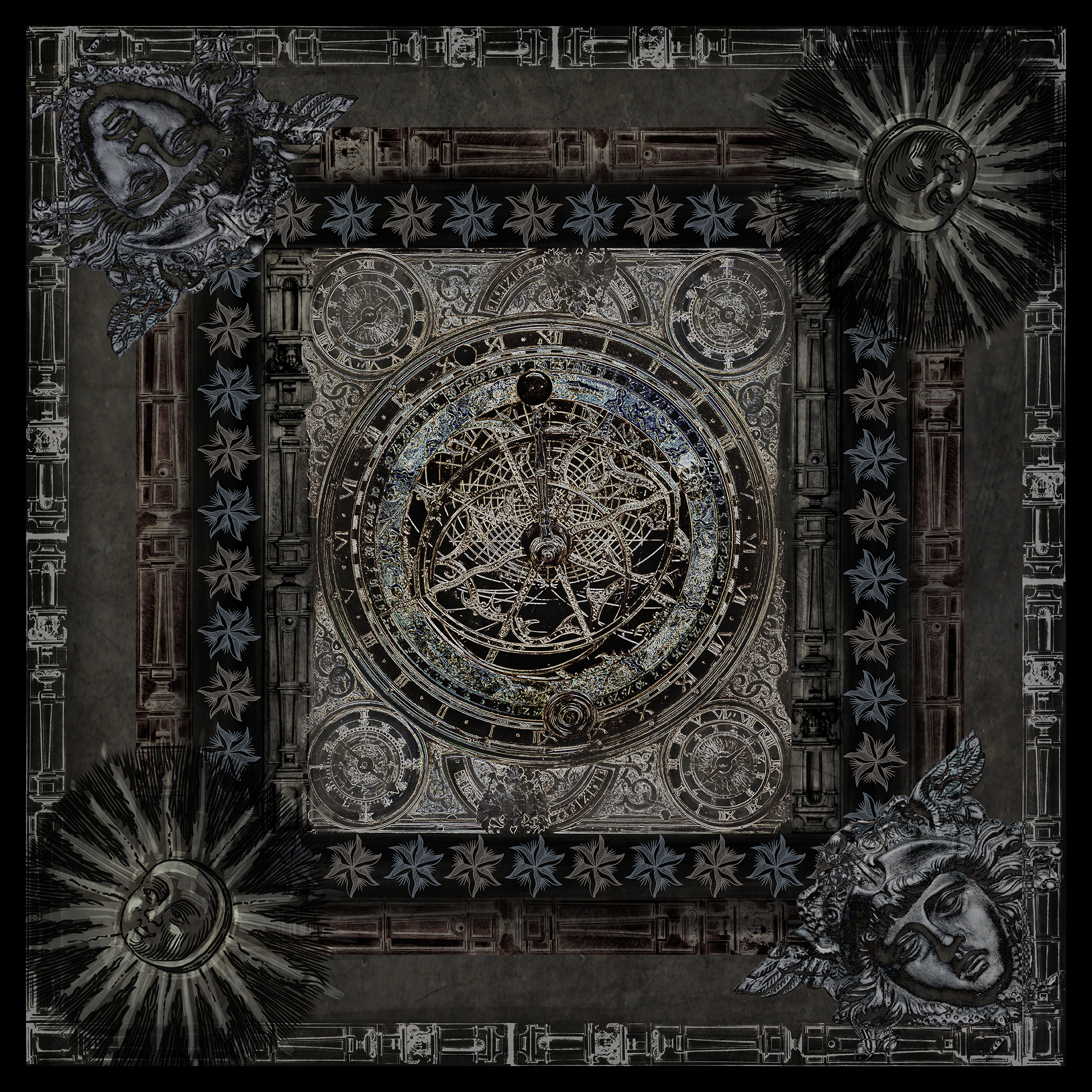 Scarf- Dark Astrolabe