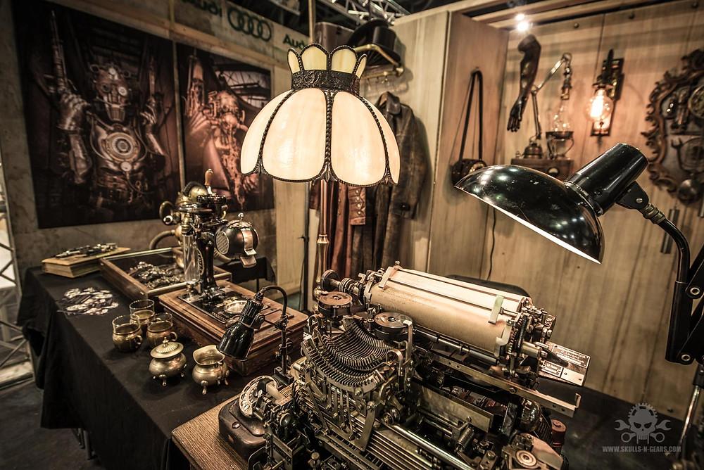Steampunk Ausstellungsstand