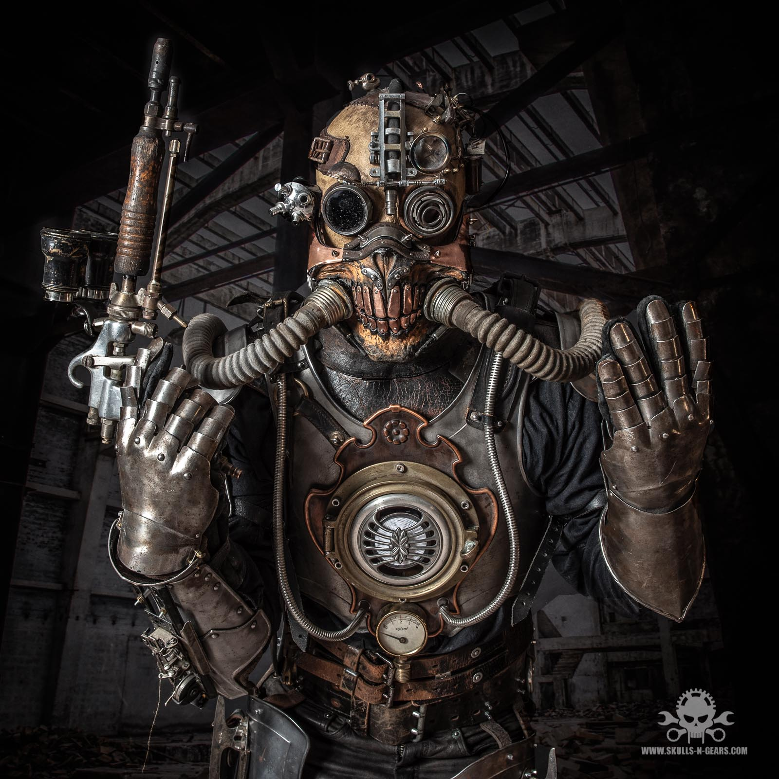 apocalyptic Steampunk full body amor-8