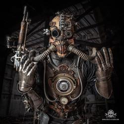 apocalyptic Steampunk full body amor-8