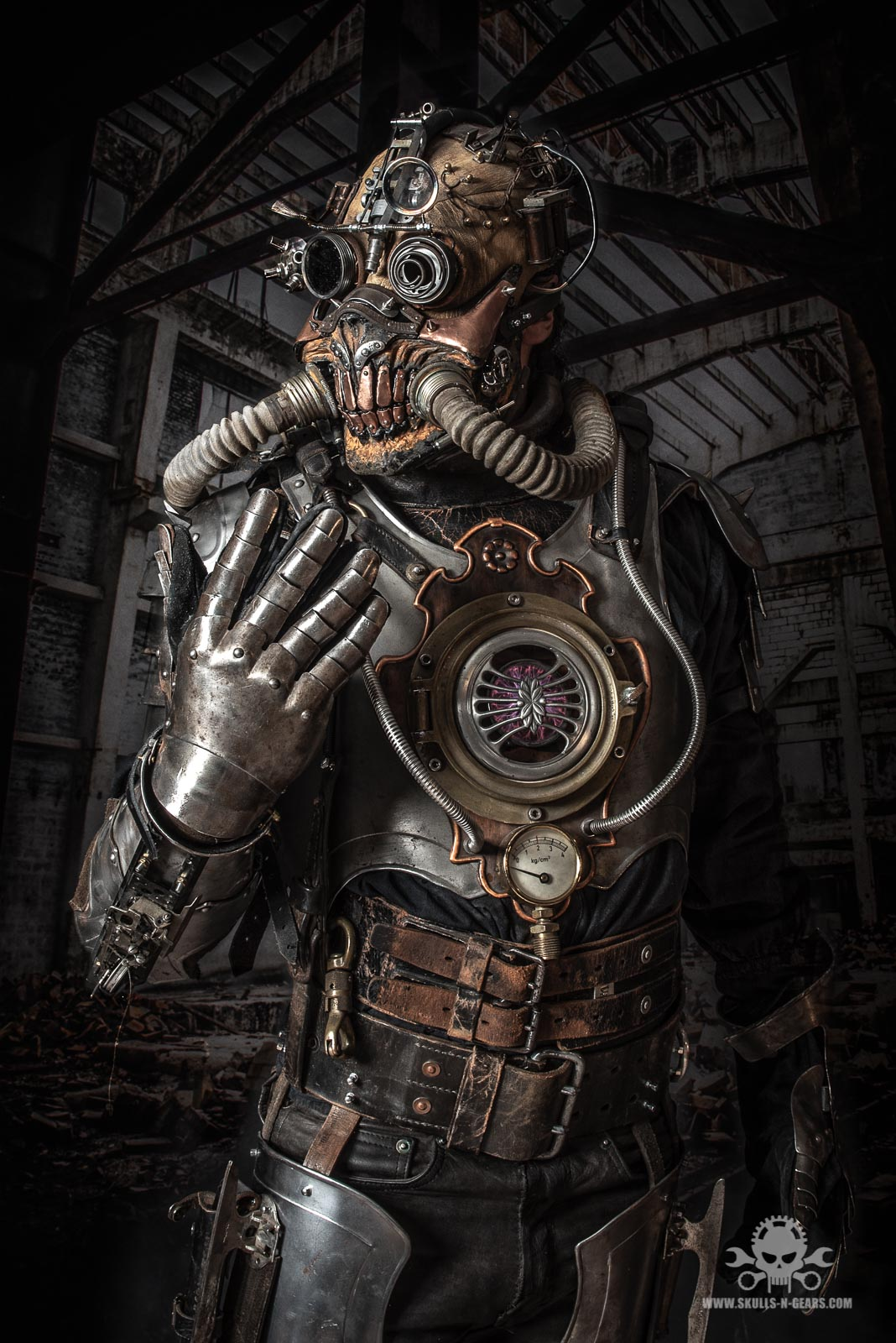 apocalyptic Steampunk full body amor-2