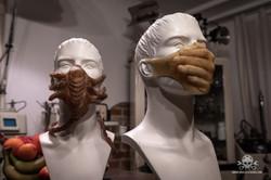 Latex Mundschutz - Maske