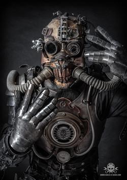 apocalyptic Steampunk full body amor-4