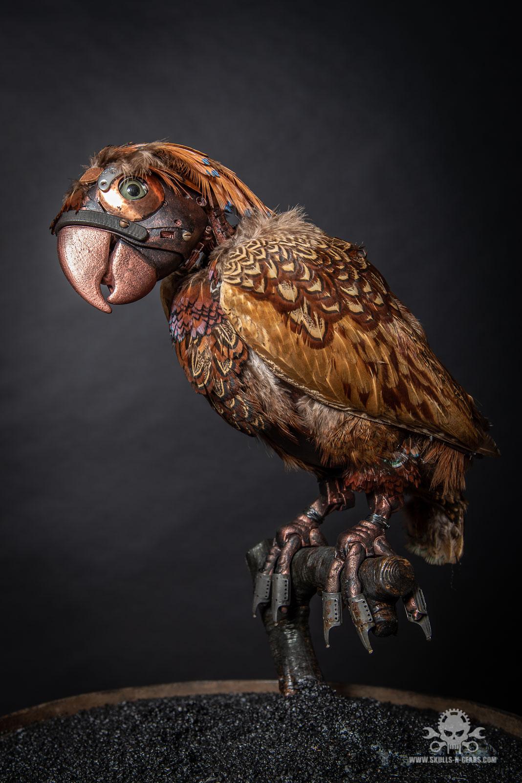 Steampunk Papagei-9