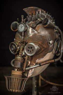 Steampunk Warrior helmet