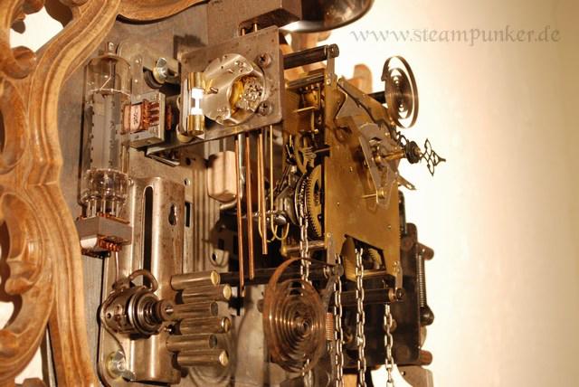 Steampunk - Wanduhr A001