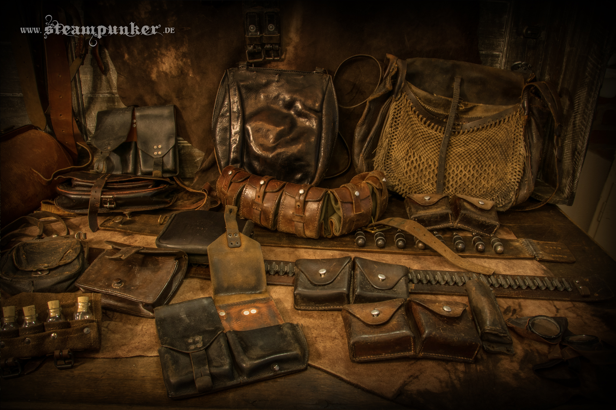 Steampunk leather bags