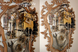 Steampunk Wanduhr