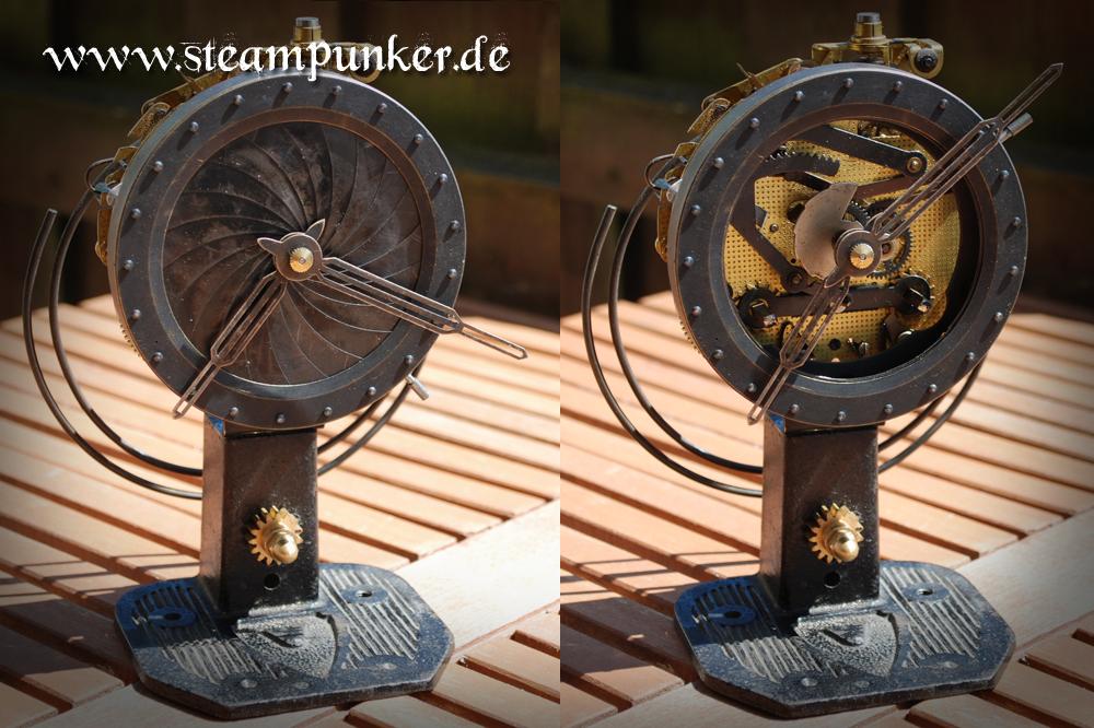 Steampunk Tischuhr