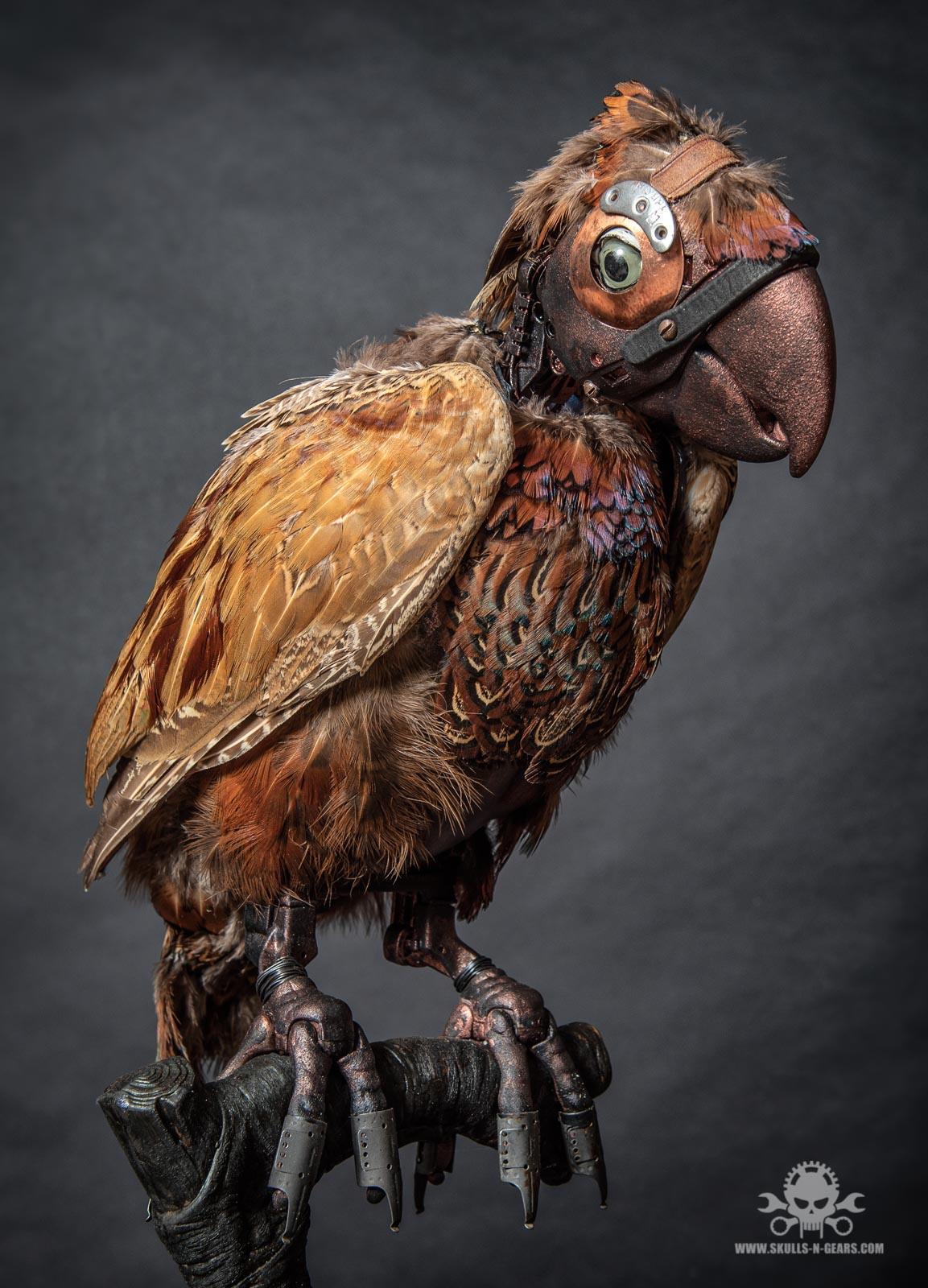 Steampunk Papagei-4