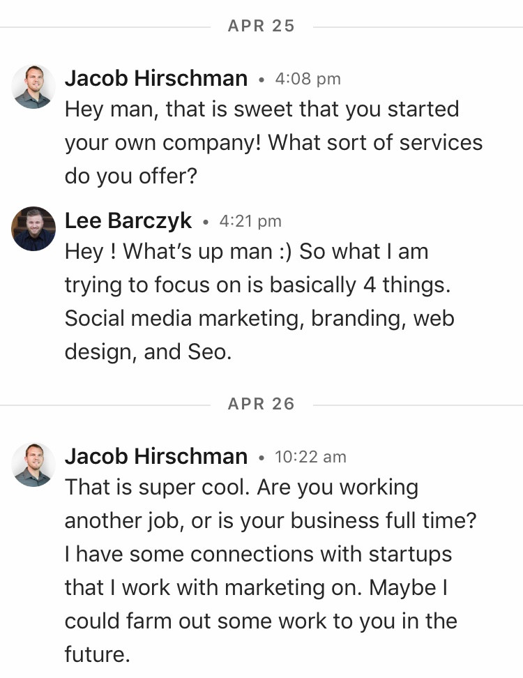 Linkedin Message