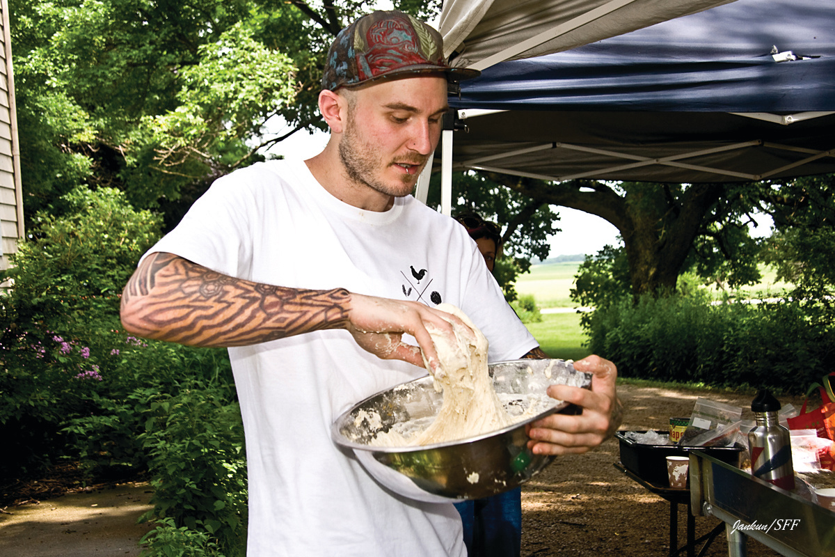 Chef Greg Wade at a Chef Camp via Spence Farm Foundation