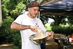 Chef Greg Wade at a Chef Camp via Spence Farm Foundation