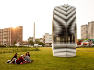 The Smog Tree Tower: Dutch Designer Daan Roosegaarde Takes Carbon Particles Polluting the Air &