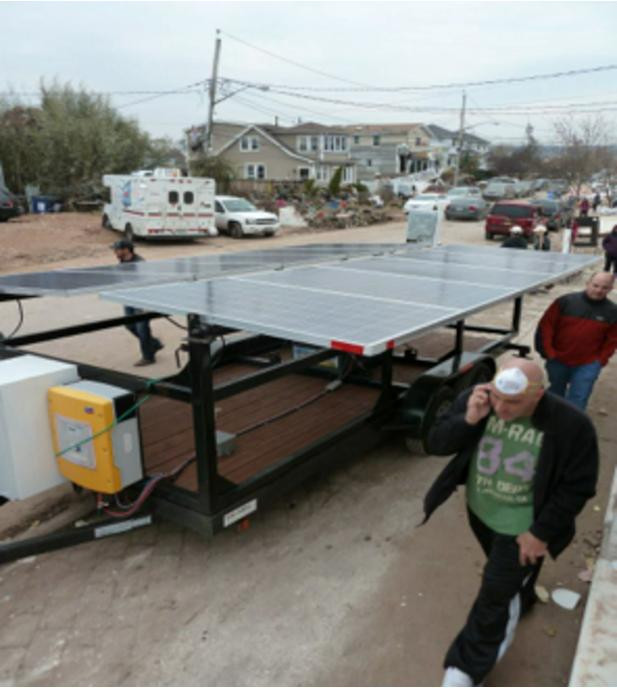Portable Solar PV Power Generator with Battery Storage in NYC after Hurricane Sa