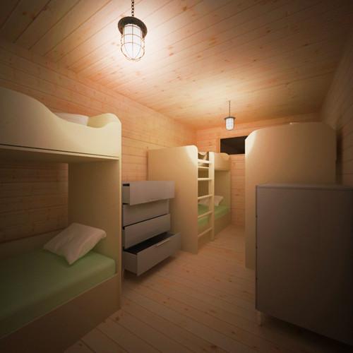 Bedroom in Zombie Log Cabin.jpg