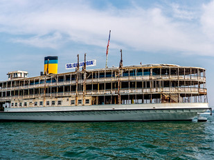 The SS Columbia, America's Oldest Surviving Passenger Steamboat,  Heading To NYC