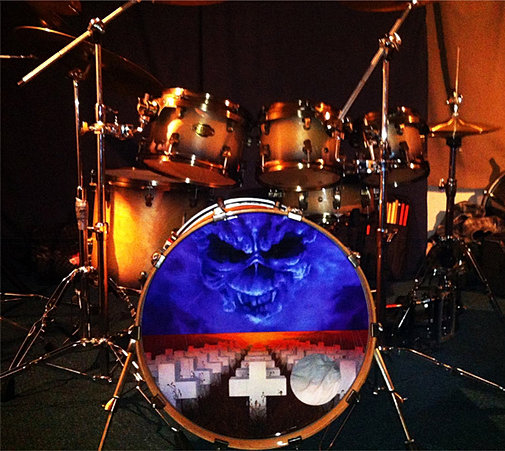 custom bass drum head printing from rock drummers from. Black Bedroom Furniture Sets. Home Design Ideas