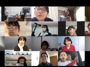 東京ホワイトハンドコーラス オンライン練習でもリラックスをして