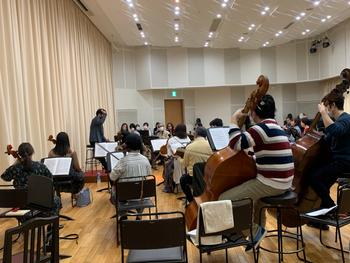 世界子ども音楽祭特設オーケストラの練習が開催されました