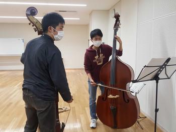 駒ヶ根子どもオーケストラ コントラバスが始動しました!