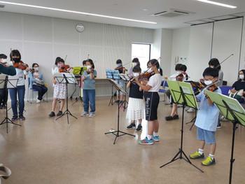 駒ヶ根子どもオーケストラ 久しぶりの体験教室