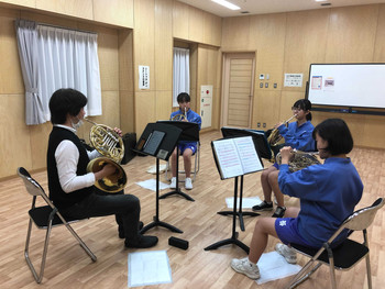 相馬管楽器教室 吹奏楽コンクール目前!