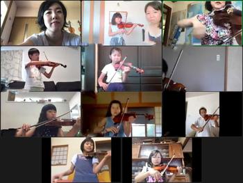 駒ヶ根子どもオーケストラ アイデアを出し合いながらのオンライン講座