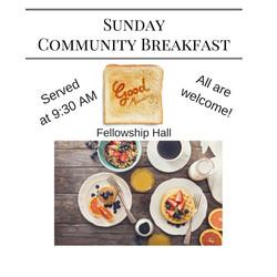 Sunday Breakfast 9-30 AM