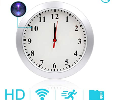 Clock with a Motion Detecting Hidden Camera