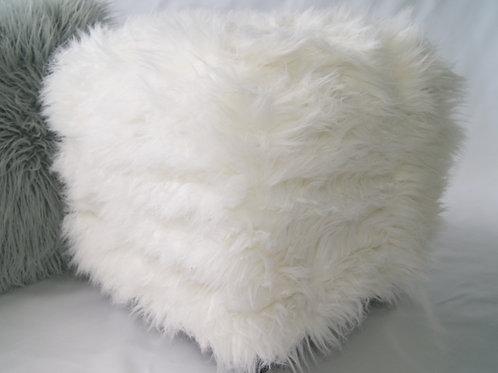 Fur Ottoman Cover