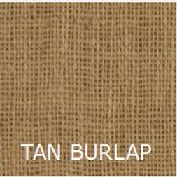 "TAN BURLAP 36"" LONG BED SKIRT"