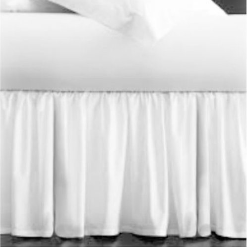 "COUTURE Gently Gathered 36"" Long Single Side Bed Skirt"