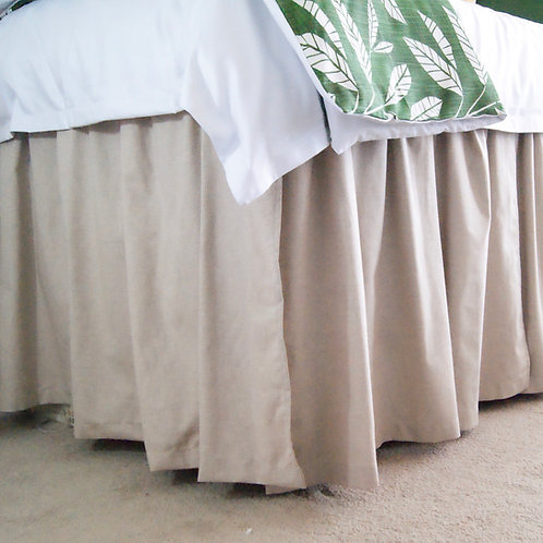 "FULL/XL FULL - END OF BED SKIRT - 36"" LONG"