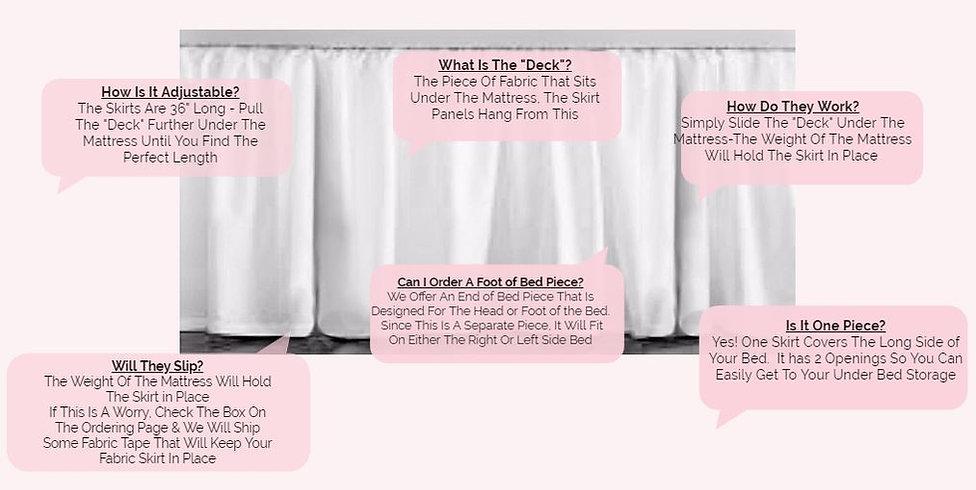 dorm room bedskirts adjustable to any size, how do dorm bedskirts work, dorm storage tips, dorm decor