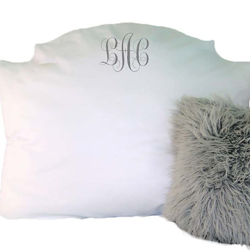 "Mary Beth Headboard Pillow Twin: 38""Wide x 28""Tall  Full: 50""Wide x 28""Tall"
