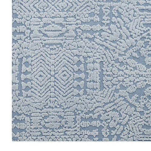 Ice Blue Modern Moroccan Rug