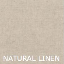 "NATURAL LINEN 36"" LONG BED SKIRT"