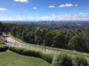 Mt Coot-tha Summit view of Brisbane CBD