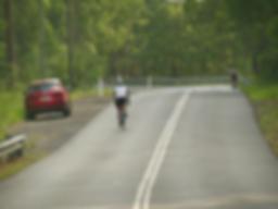 Cyclists on Sir Samuel Griffith Drive im