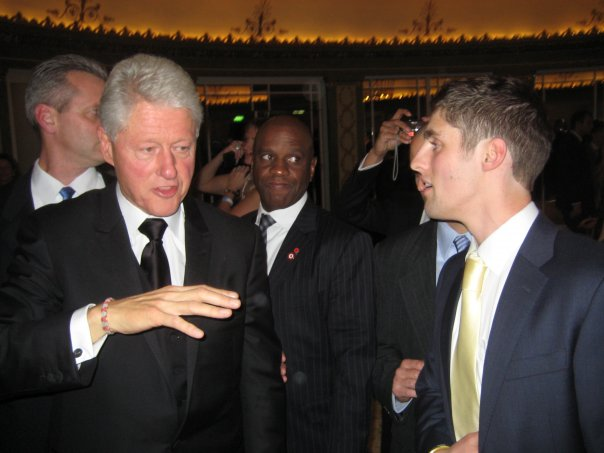 Discussion with President Clinton